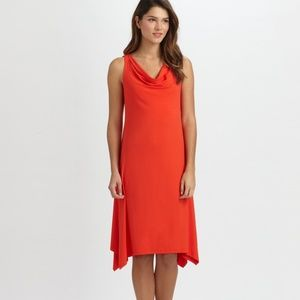 Eileen Fisher Woman Plus Size 2X Dress Red Cowl